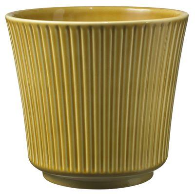 Delphi Ceramic Pot 16x14cm Amber High-Gloss
