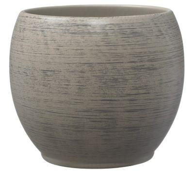 Alberta Fashion Ceramic Pot 18cm wood optics brown