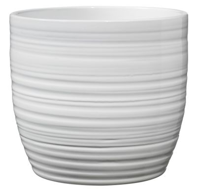 Bergamo X-Mas Ceramic Pot 16cm shiny white