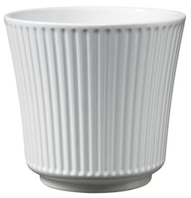 Delphi Ceramic Pot 20cm shiny white