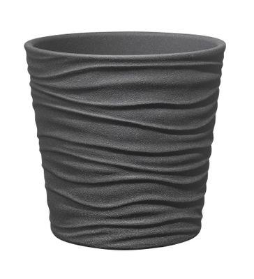 Sonora Ceramic Pot 19cm anthracite stone effect