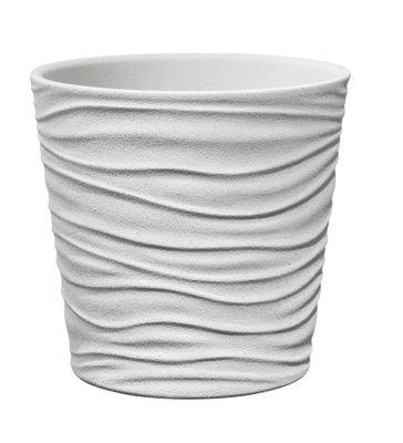 Sonora Ceramic Pot 19cm white stone effect