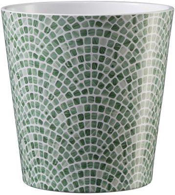 Dallas Tiles & Mosaic Ceramic Pot 14cm Mosaic Green