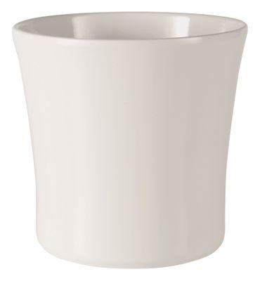 Tahiti Ceramic Pot 32cm shiny white