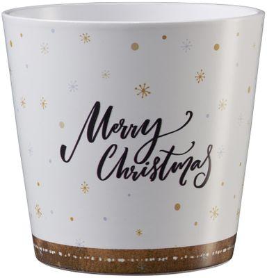 Dallas Christmas Ceramic Pot 14cm Merry Christmas