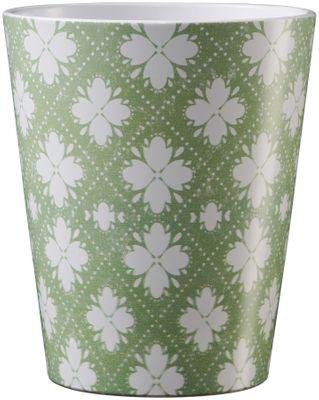 Medina Ornament Ceramic Pot 13cm Green-White