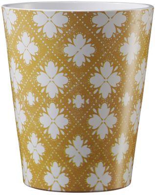 Medina Ornament Ceramic Pot 13cm Yellow-White