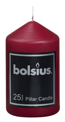 Bolsius Pillar candle Wine Red (100 mm x 60 mm)