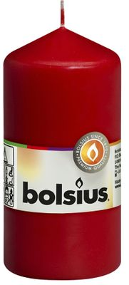 Bolsius Pillar Candle Red (120/60 mm)