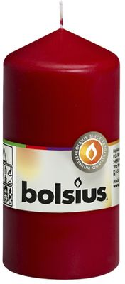 Bolsius Pillar Candle Wine Red (120/60 mm)