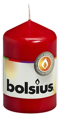 Bolsius Pillar Candle Red (80/50 mm)