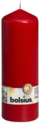 Bolsius Pillar Candle Red (200/70 mm)