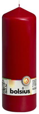 Bolsius Pillar Candle Wine Red (200/70 mm)