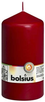 Bolsius Pillar Candle Wine Red (150/80 mm)