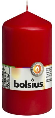 Bolsius Pillar Candle Red (130/70 mm)