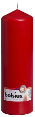 Bolsius Pillar Candle Red (250/80 mm)