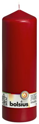 Bolsius Pillar Candle Wine Red (250/80 mm)
