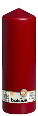 Bolsius Pillar candle Wine Red, single in cello (300 mm x 98 mm)