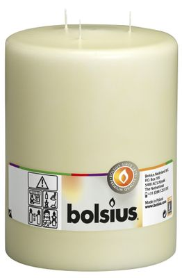 Bolsius 3-wick Mammoth Pillar Candle Ivory (200/150 mm)