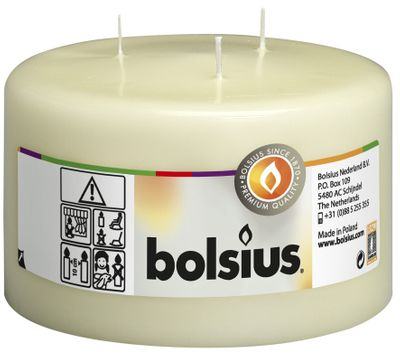 Bolsius 3-wick Mammoth Pillar Candle Ivory (100/150 mm)