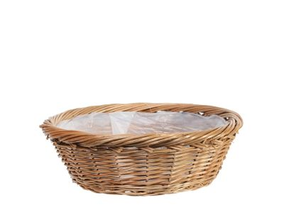 Round Full Willow Basket 35.5cm