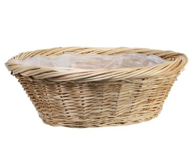 Round Full Willow Basket 45.5cm