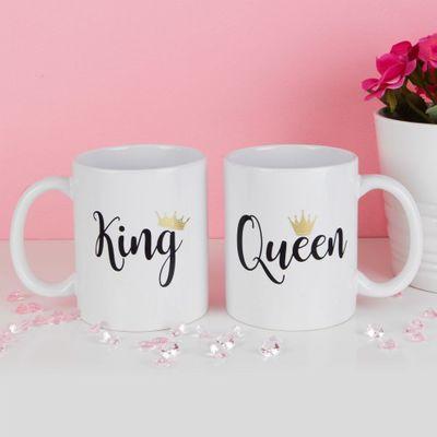 True Valentine Set of 2 King & Queen Mugs