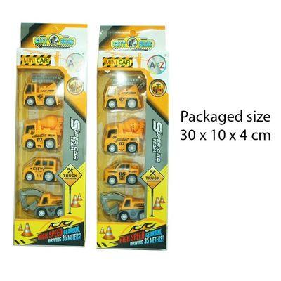 T19863 4pcs Mini Construction Vehicles