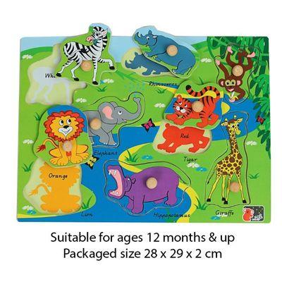 T20048 Safari Chunky Peg Puzzle