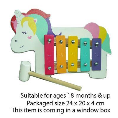 T20054 Wood Unicorn Xylophone