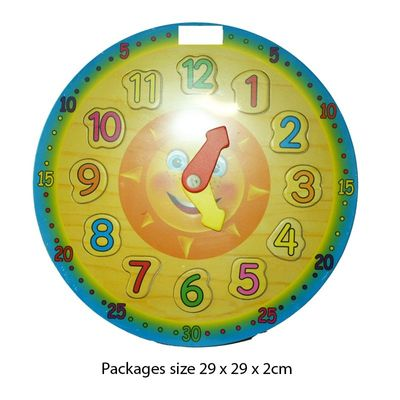 T19991 Wooden Puzzle Clock 28cm