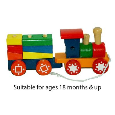 T20026 Wooden Train & Carriage