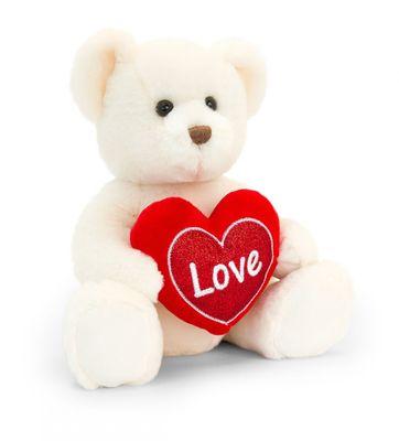Cream Chester Bear with Heart (30cm)