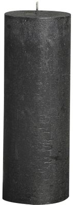 Rustic pillar candle Metallic  Anthracite - 190/68 mm