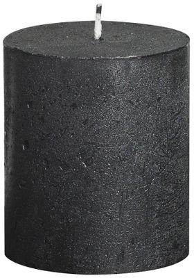Rustic pillar candle Metallic Anthracite - 80/68 mm
