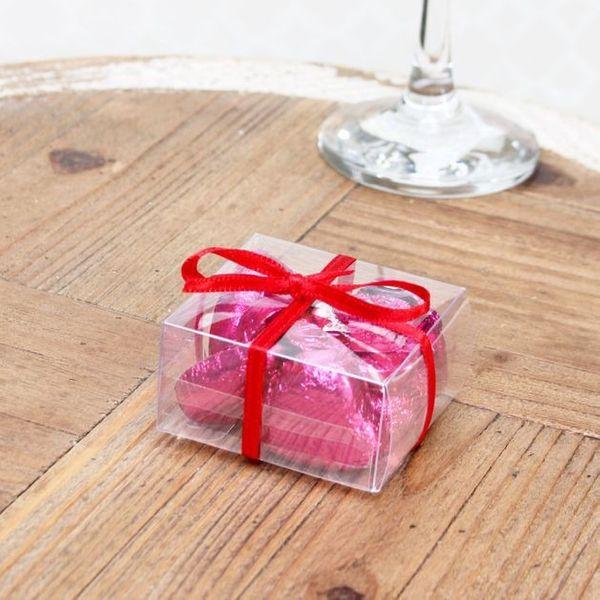 Light Pink Chocolate Hearts Sweet Box