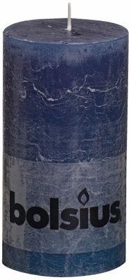 Dark Blue Rustic Candle - 130/68