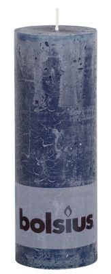 Dark Blue Rustic Candle - 190/68