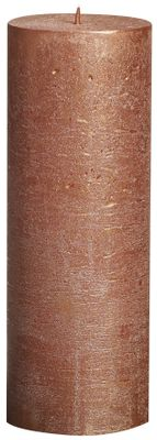 Bolsius Rustic Metallic Candle - Copper (190mm x Dia68mm)  (Burn Time : 65 hours