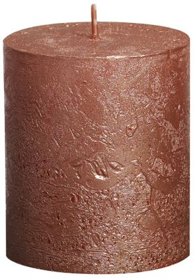 Bolsius Rustic Metallic Candle - Copper (80mm x Dia68mm) (Burn Time : 30 hours)