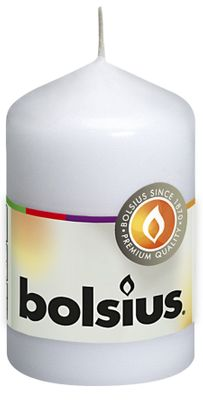 Bolsius Pillar Candle White (80/48 mm)