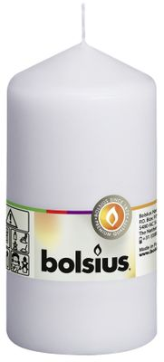 Bolsius Pillar Candle White (130/68 mm)