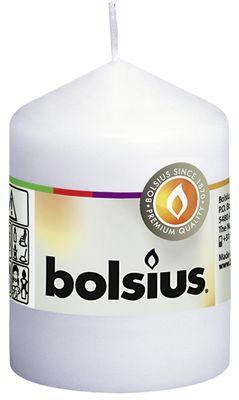 Bolsius Pillar Candle White (80/58 mm)