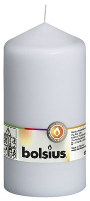 Bolsius Pillar Candle White (250/78 mm)