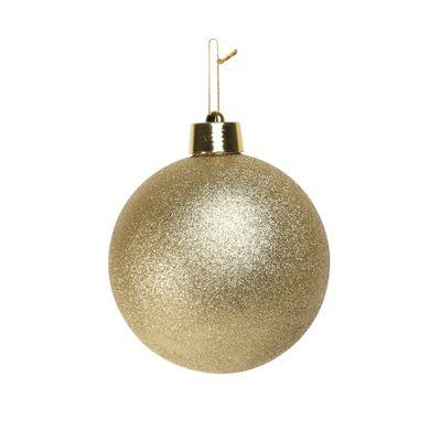 Gold Glitter Shatterproof Bauble (x1) (20cm)