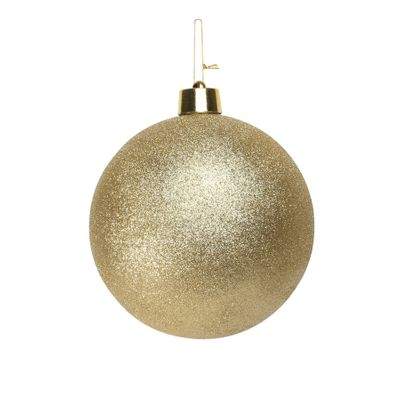 Gold Glitter Shatterproof Bauble (x1) (25cm)