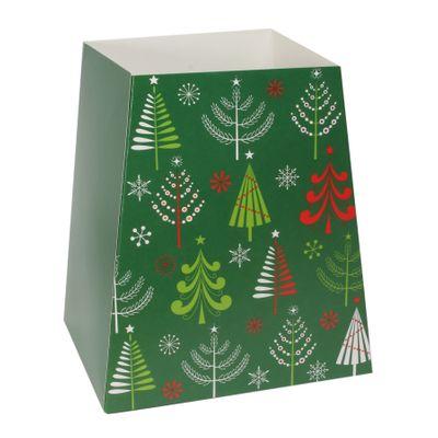 Green Christmas Trees Gift Box (19 x 12 x 9cm)