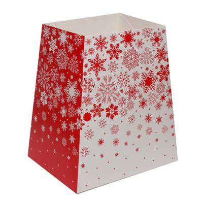 Red & White Snowflakes Gift Box  (19 x 12 x 9cm)