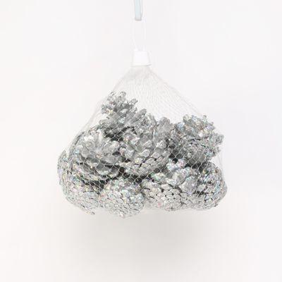Silver Pinecones (250g / Net)