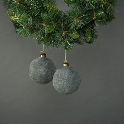 Celeste 10cm Glass Bauble Jade (S/4)